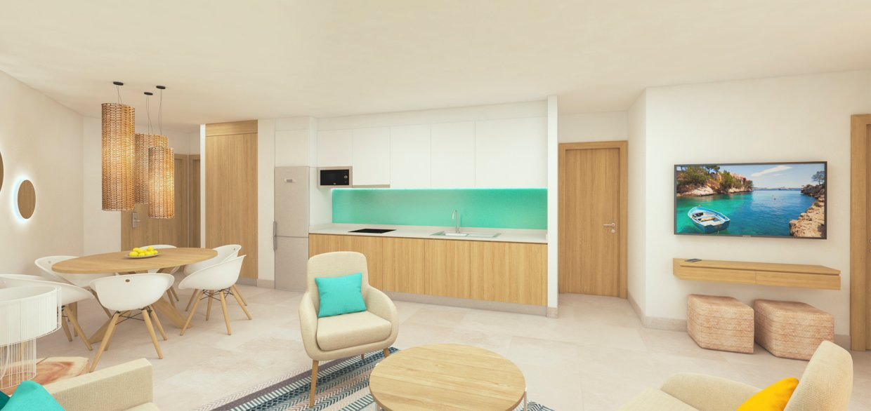 Apartaments Posidonia Colonia Sant Jordi Kitchen