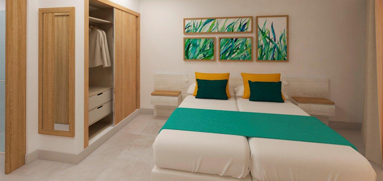 Apartametns posidonia colonia de santjordi-dormitorio